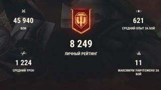 Аккаунт для World of Tanks — СРЕДНЯЧОК ⚡️WOT Аккаунт - 9 ТОПОВ, 2 ПРЕМА, 55% ПОБЕД, 46К БОЕВ