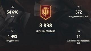 Аккаунт для World of Tanks — ТОП АКК WOT 🔥🔥🔥 - 23 ТОПА, 8 ПРЕМОВ, 55% ПОБЕД, 55К БОЕВ